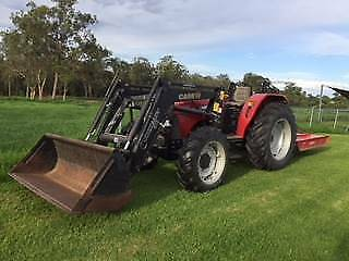 Tractor JX70 with Bucket and 6' Slasher