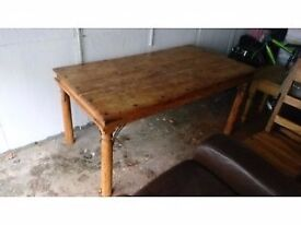 Solid oak table and 6 chair. Open to offers.