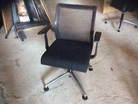 Black mesh swivel chair