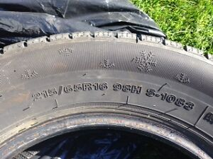 215/65R16 Winter Tires Wanli Over 80% Life Left London Ontario image 2