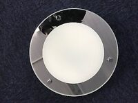Bathroom Ceiling light - Mirror finish in excellent condition