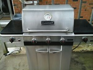 Natural gas barbecue with cover