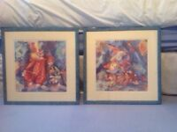 Blue Framed Clown Prints