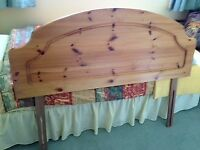 """Solid wood headboard for 4'6"""" bed for sale"""
