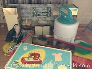 Children's Vintage Toy Kitchen And More A