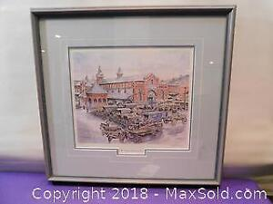 W. Lowry Titled: The Hamilton Market 1910 Signed