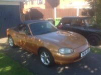 1999 Mazda MX5 , Gold , Ready to go for the Summer