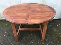 Teak extending garden table