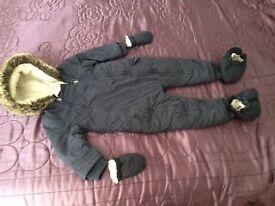 Winter Hooded Romper Snowsuit Bodysuit Outfit