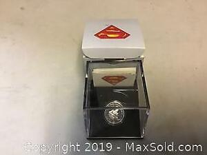 Ten dollar silver Superman coin
