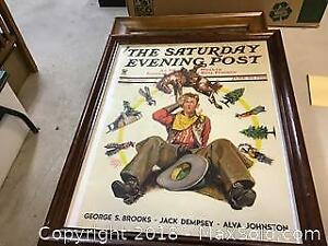 Framed Cowboy Cover Of Saturday Evening Post
