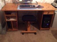 Antique Pine Computer Desk