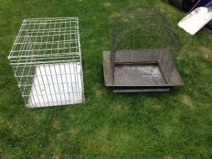 Cage a petit chien robuste avec plateau galvanisé