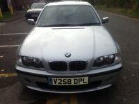 BMW 323i SILVER ,FULL HEATED LEATHER ,FULL MOT