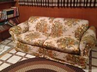 FREE SOFA BED AND MATCHING SINGLE CHAIR