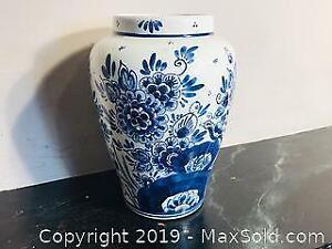 Vintage Delft Vase Holland