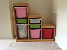 Storage with boxes for toys, small things, etc