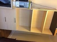 Shelving cabinet with filing drawers