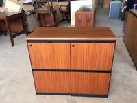Rosewood 4 drawer filing cabinet