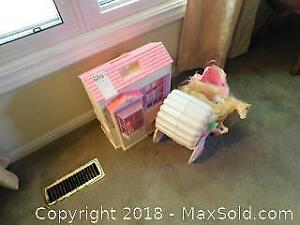Doll House And Carriage A
