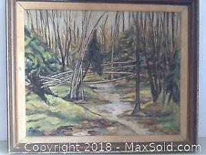 Vintage Hand Done Painting Signed