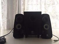 Logitech Z323 Computer Speaker System - Black