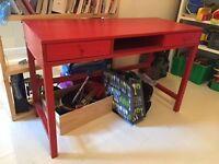 Red Ikea Desk