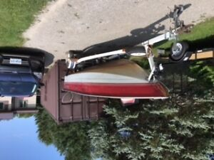 16 Foot Aluminum Boat with 60 HP Johnson on EZ Loader Trailer