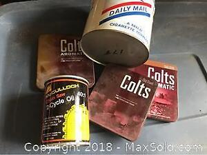 Old Tins McCulloch Oil, Colts And Daily Mail