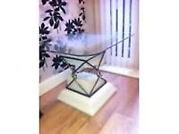 coffee / occasional table glass top Romany style
