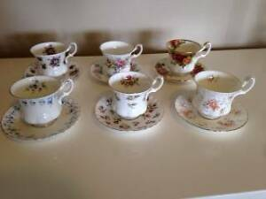 Royal Albert coffee set: six small coffee cups and saucer Wollstonecraft North Sydney Area Preview