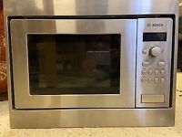 Bosch microwave. Integrated. Stainless steel