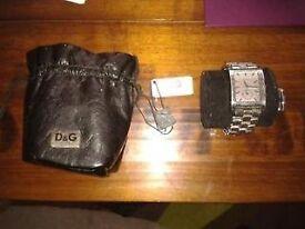 D.G gents stainless steel wrist watch