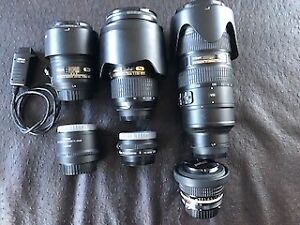 Nikon camera and lenses for sale