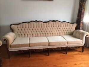 French Provincial Couch Set (3 Pieces)