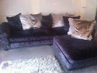 Designer Velvet corner sofa