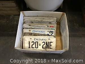 Box Of Licence Plates