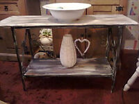 rustic console table/sideboard/hall table/boot rack