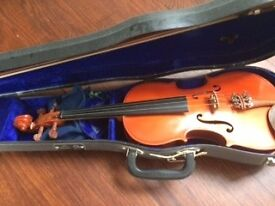 Violin Quarter Size Stentor and Bow 4 String