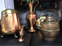 BRASS, COPPER  accent pieces  from $5.00 each