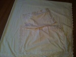 new, ivory color bed sheet