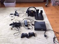 XBox 360, Kinect, Steering Wheel, Games bundle