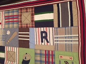 Boys sports Twin/Single Quilt Bedding from Pottery Barn
