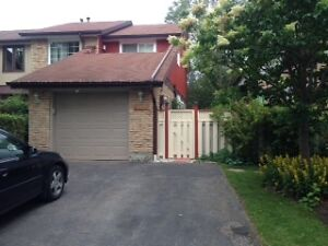 very demand area  in mississauga---semi-house for rent