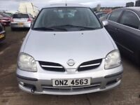 2005 Nissan almera, 1.8 petrol, breaking for parts only, all parts available
