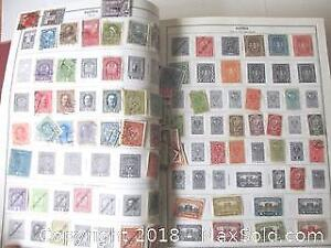 5 Inch Thick Citation Stamp Album With Stamps Collection.