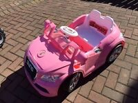Girls battery operated pink Audi car