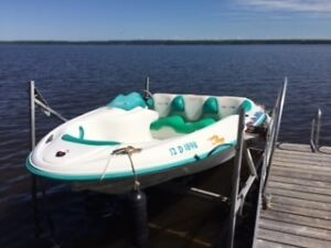 Excellent condition with trailer and boat lift
