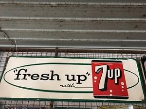 Original Vintage 7 Up signs
