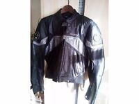 HEIN GERICKE PRO SPORTS MENS LEATHER MOTORCYCLE JACKET ~ SIZE EU 48 ~ UK 38/40""